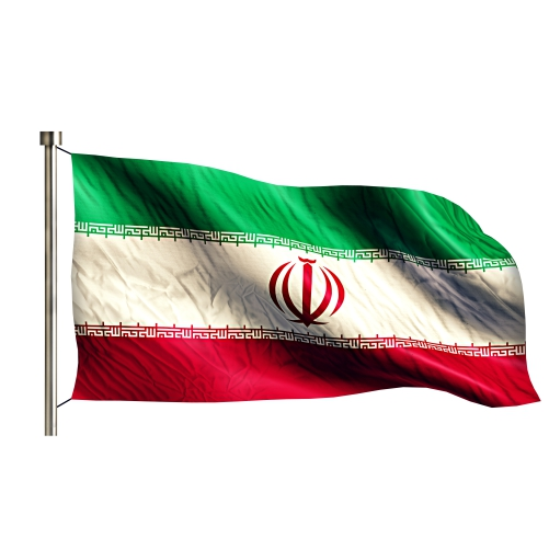 iran national flag isolated 3d white background 1