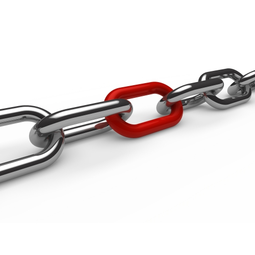 iron chain with red link 1