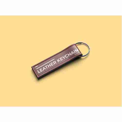 leather keychain mockup template 1
