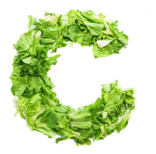 letter c with fresh lettuce 1