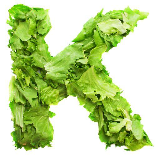 letter k with fresh tasty lettuce 1