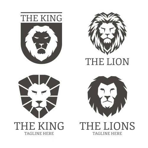 lion logos black color 1