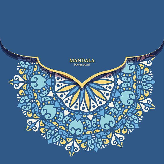 luxury ornamental colorful mandala design background 1