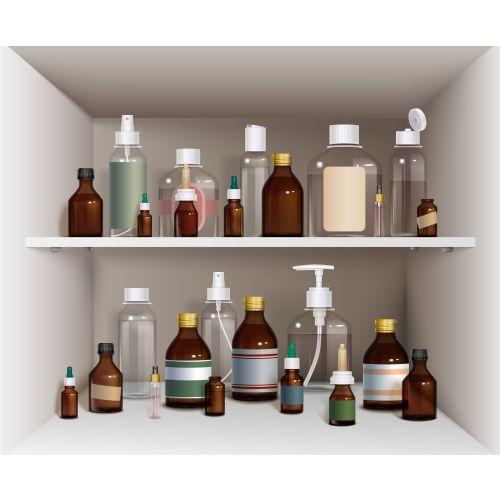 medical bottles elements collection medical bottles 1
