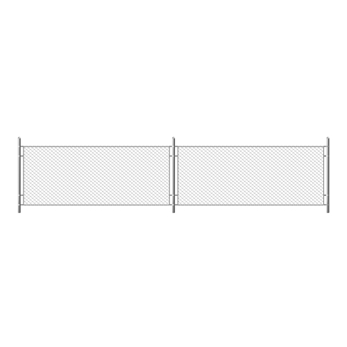 metal chain link fence segment rabitz grid isolated white background realistic illustration steel wire mesh security barrier prison military chainlink boundary 1