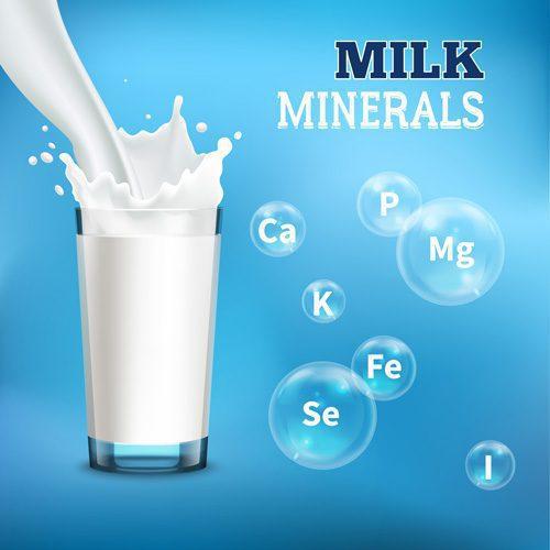milk minerals vitamins illustration 1