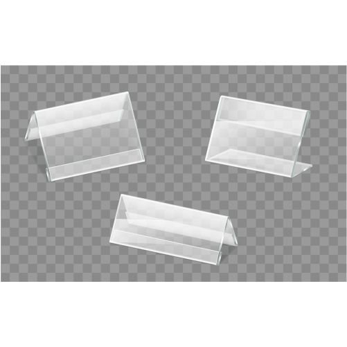 nameplates plastic acrylic holders vector set 1