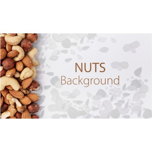 nuts assortment mock up background 1