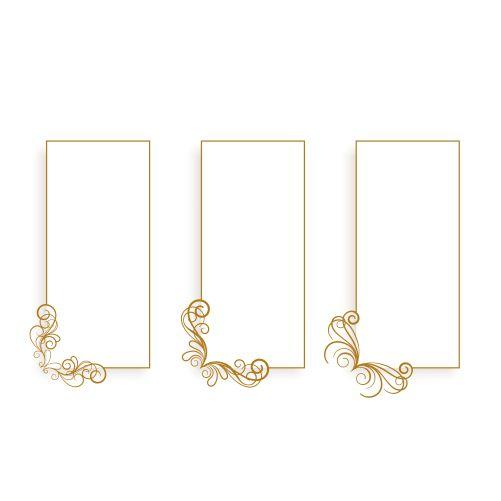 ornamental floral vertical frames set three 1
