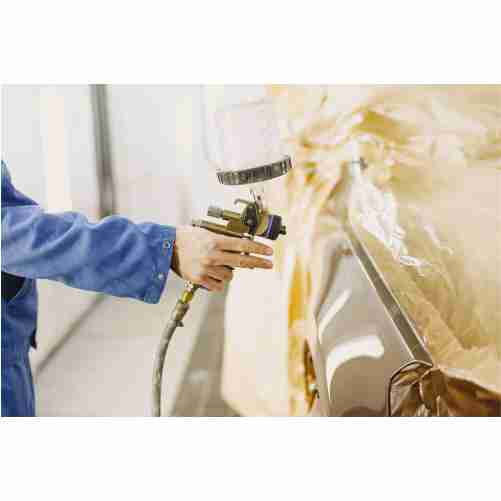 painting machine parts white paint angle grinder 1