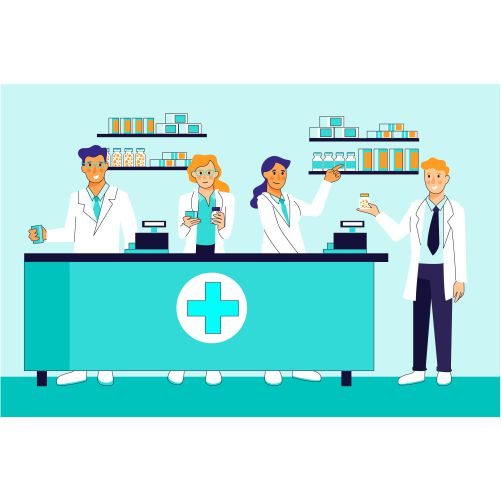 pharmacist collection illustration concept 1