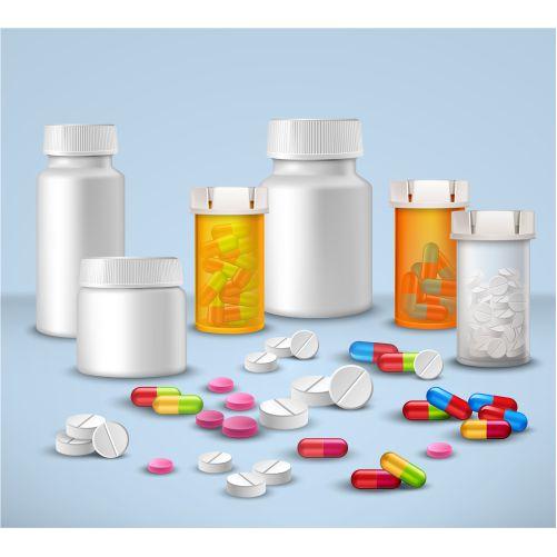 pill bottles set 1