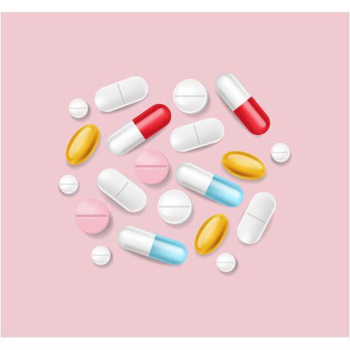 pills realistic medical pile different medicine 3d illustrations 1