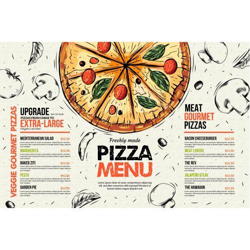 pizza restaurant menu template 1
