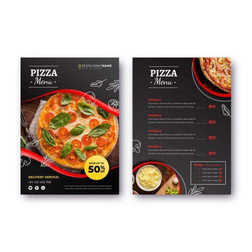 pizza restaurant menu with photo 1