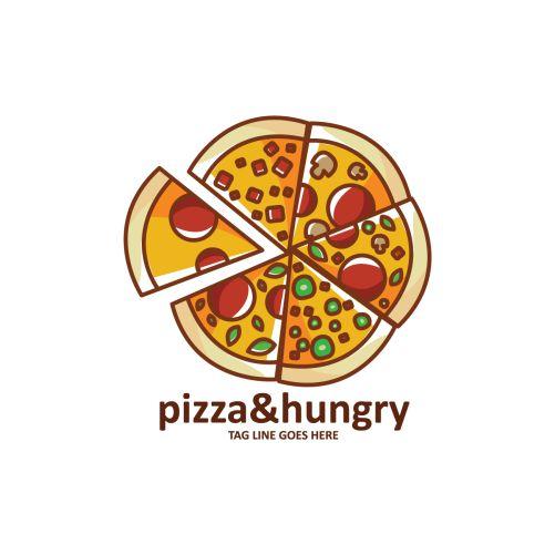 pizza shape logo template 1