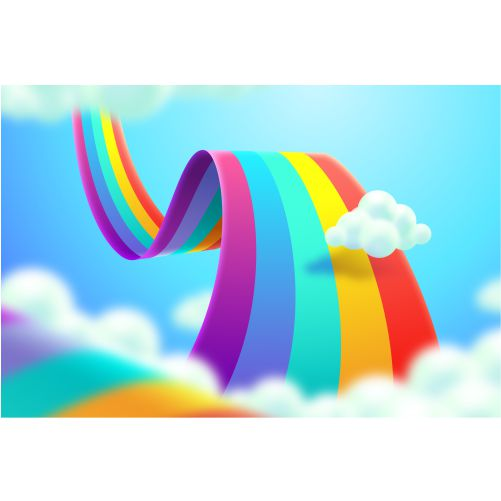 realistic colorful rainbow concept 1