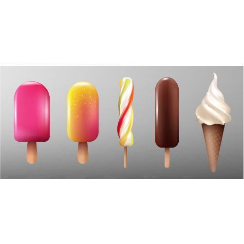 realistic ice cream collection 1