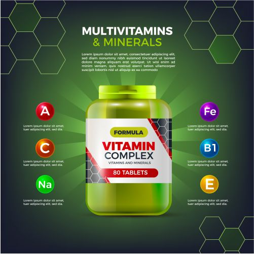 realistic vitamin complex package 1