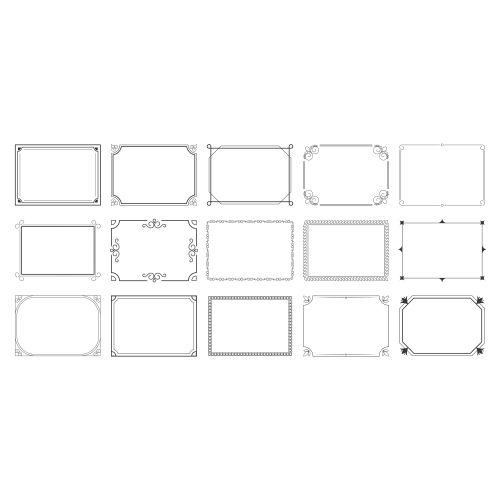 rectangular calligraphic frames set 1