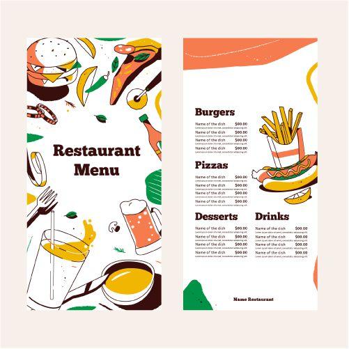 restaurant menu template design 1