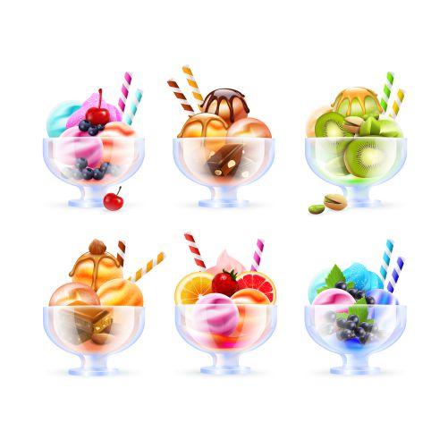 sherbet icecream glass set 1