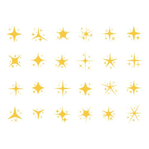 sparkling stars shiny sparks glitter light star sparkle elements 1