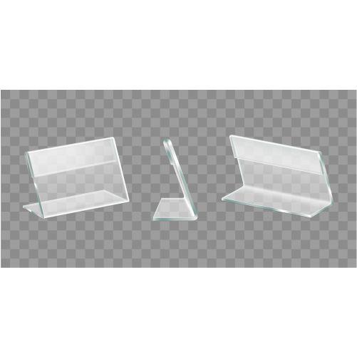 table display acrylic holders realistic vector set 1