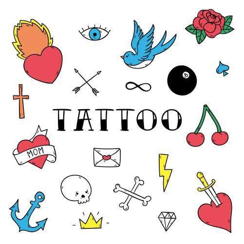 tattoo studio badges full color 1
