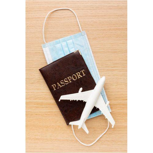 top view passport mask arrangement 2
