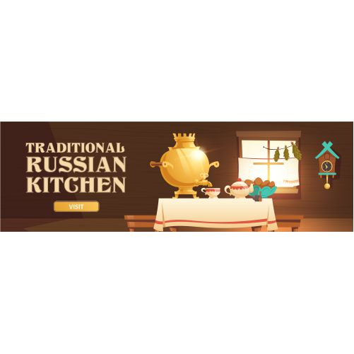 traditional russian kitchen header with samovar 1