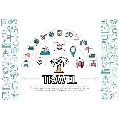 travel line icons 1