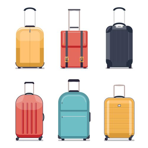 travel luggage travel suitcase icons luggage set vacation journey 1