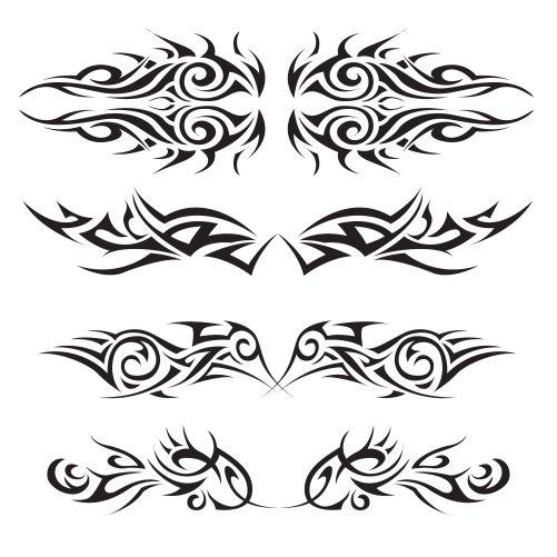 tribal tattoos set 1