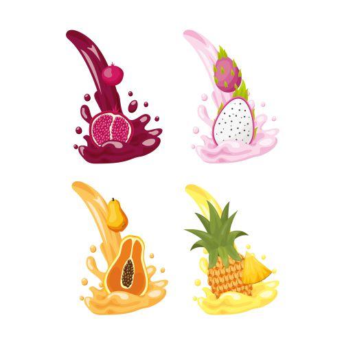 tropical fruits logos 1