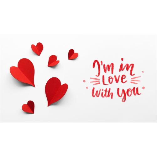 valentine s day arrangement with text 1