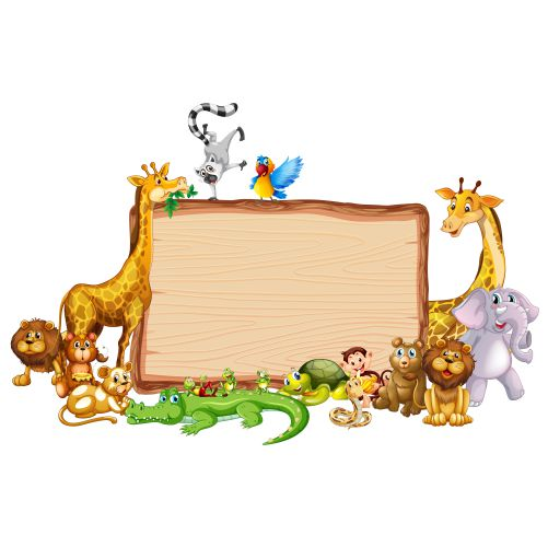 vecteezy border template with cute animals 697241 1