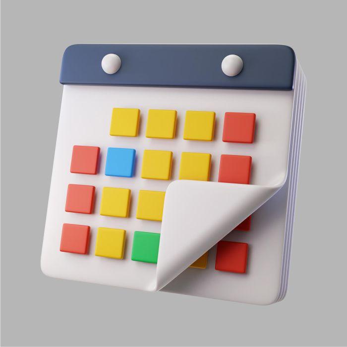 3d calendar for organization
