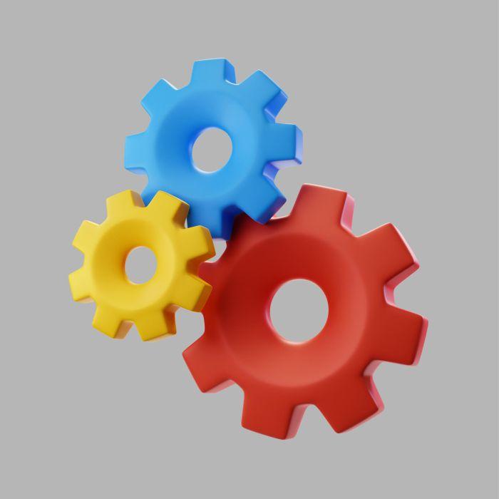 3d hardware gears