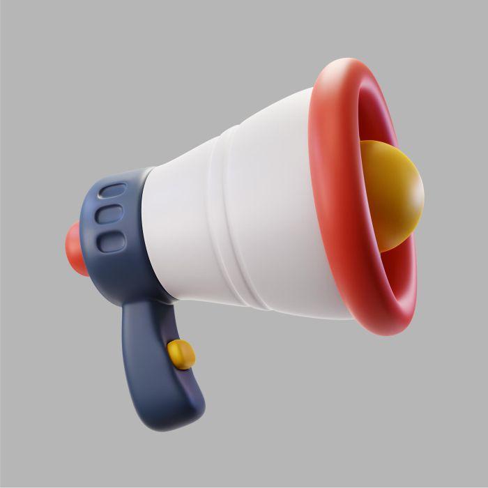 3d megaphone speaker