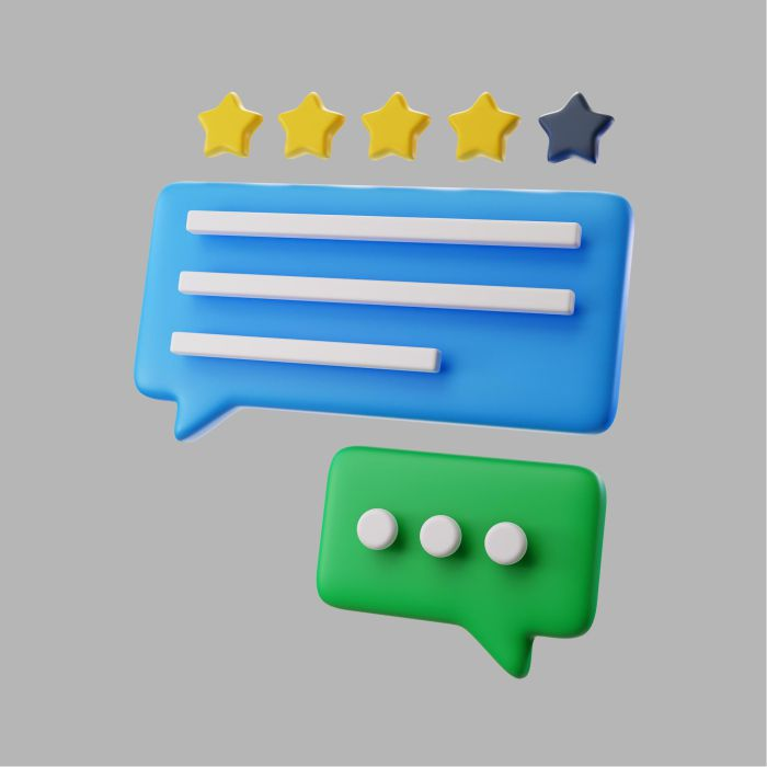 3d online messaging with star rating