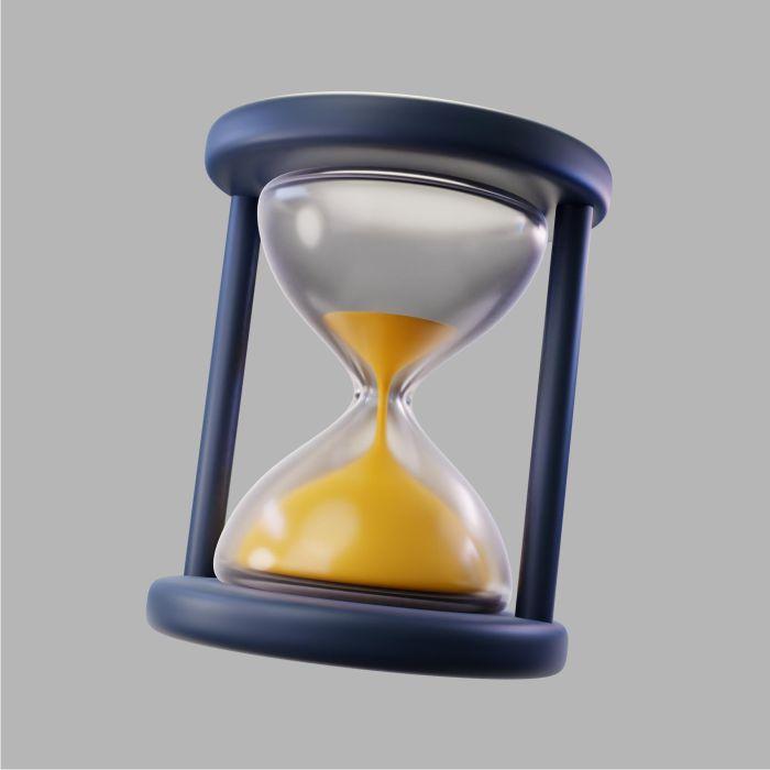 3d transparent hourglass