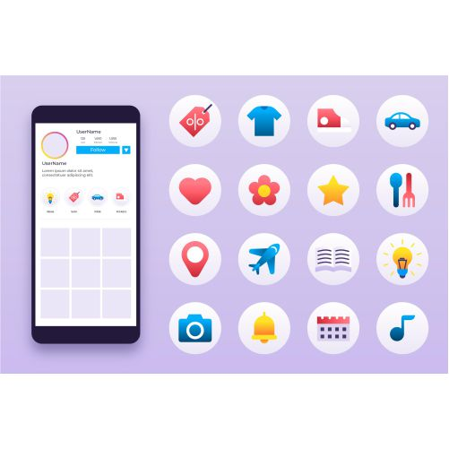 gradient instagram highlights collection 1