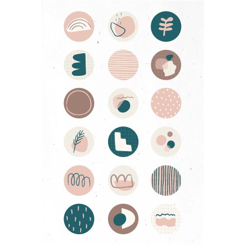 minimal doodle social story highlights icon set 1