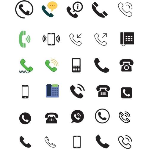 30 telephone icons vector logo F2AA36699F seeklogo.com