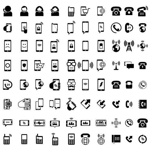 80 phone icons phone icon pack vector logo 1
