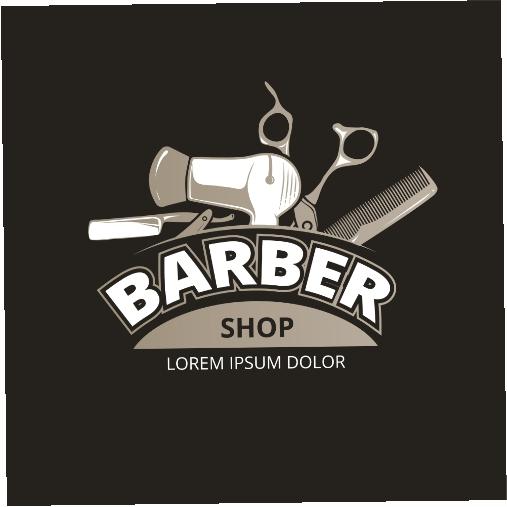 barber shop vintage logo salon barber badge label barber shop service 1