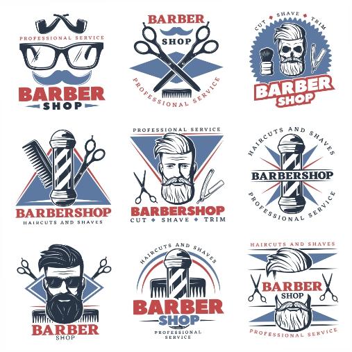 barbershop emblem set 1