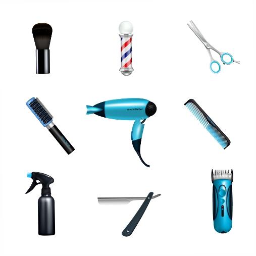 barbershop icon set 1