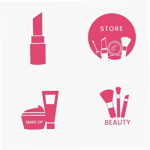 beauty cosmetics icon set 1